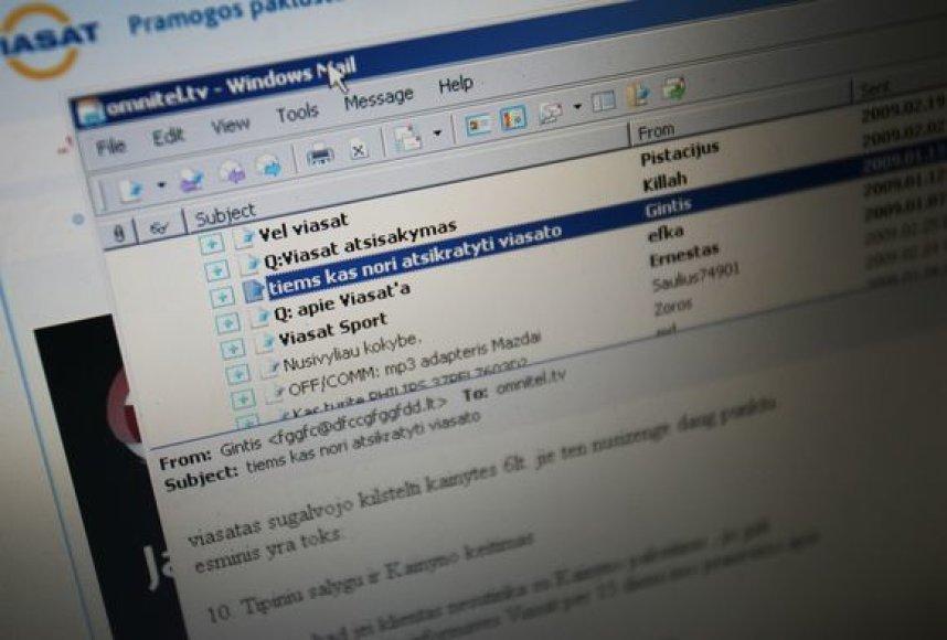 """Internete galima rasti ne vieną žinutę, kurias palieka """"Viasat"""" sutarties sąlygomis nepatenkintų klientai."""
