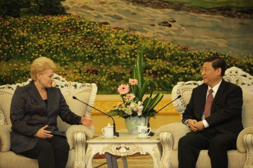 Prezidentė Dalia Grybauskaitė Pekine susitiko su Kinijos Liaudies Respublikos viceprezidentu Xi Jinpingu.