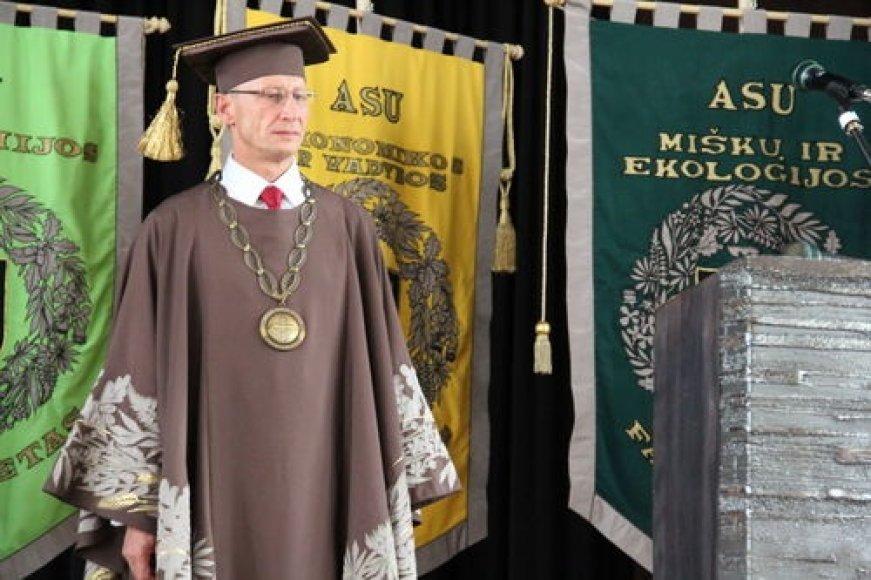Inauguruotas naujasis ASU rektorius Antanas Maziliauskas.