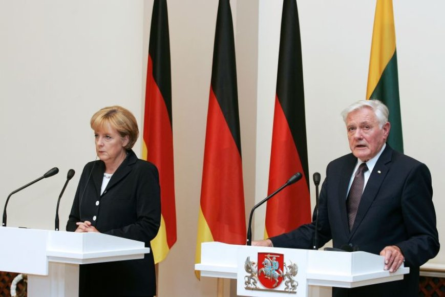 Angela Merkel ir Valdas Adamkus