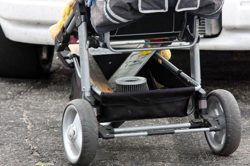 Vežimėlis ir atsarginių detalių daiktadėžė – viename