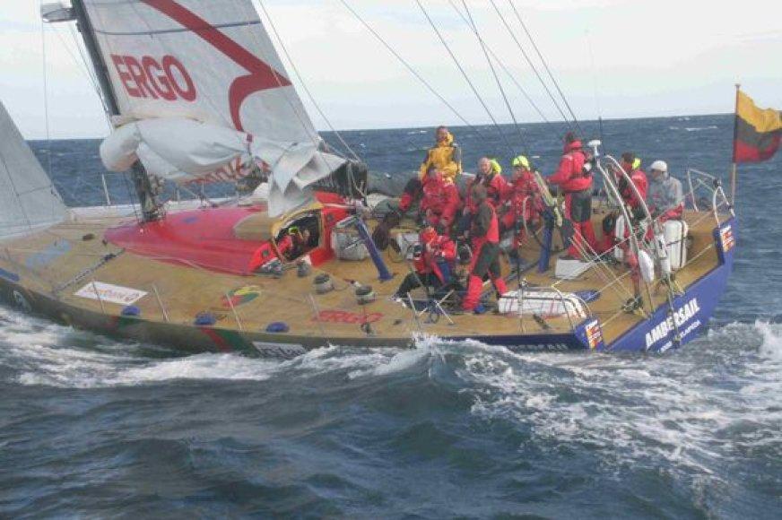 """Jachtos """"Ambersail"""" sugrįžimas į Klaipėdos uostą ir visuotinis pasaulio lietuvių šventimas planuojamas 2009 m. liepos 6 d."""