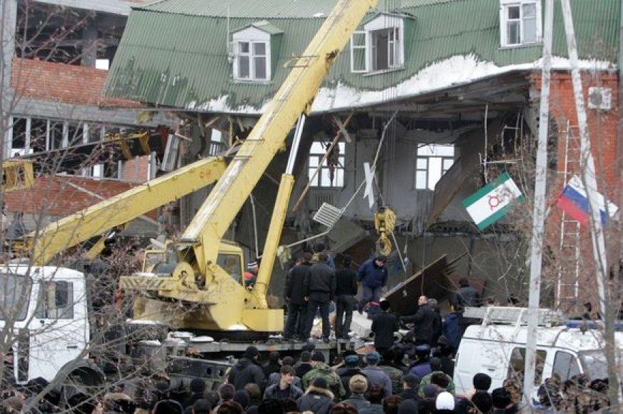 Pastatas sugriuvo, nes jame sprogo gamtinės dujos.