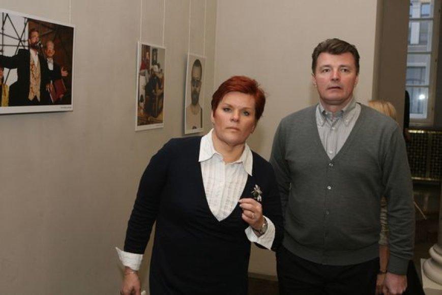 Dalius Mertinas su žmona