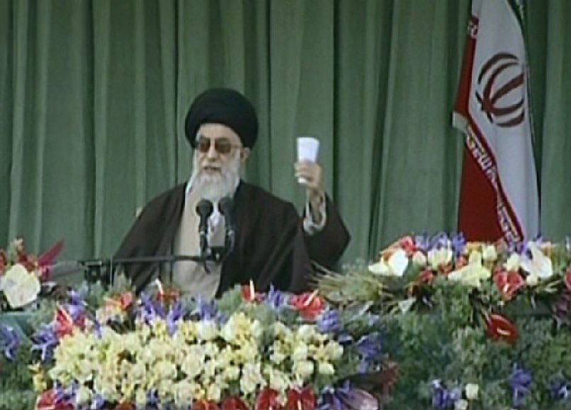Irano vyriausiasis dvasinis vadovas ajatola Ali Khamenei