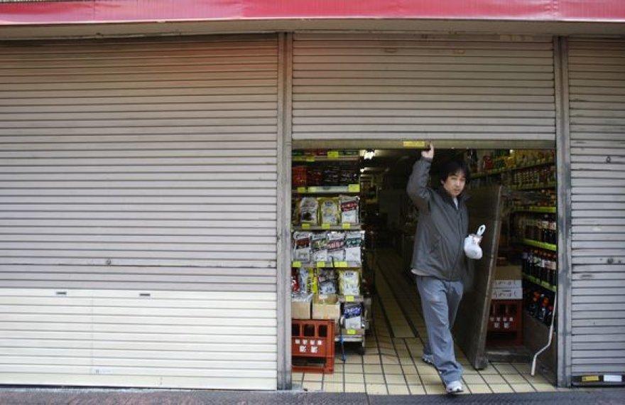 Kurorto Atami, esančio į pietus nuo Tokijo, pagrindinėje gatvėje uždarytos 13 iš 19 parduotuvių