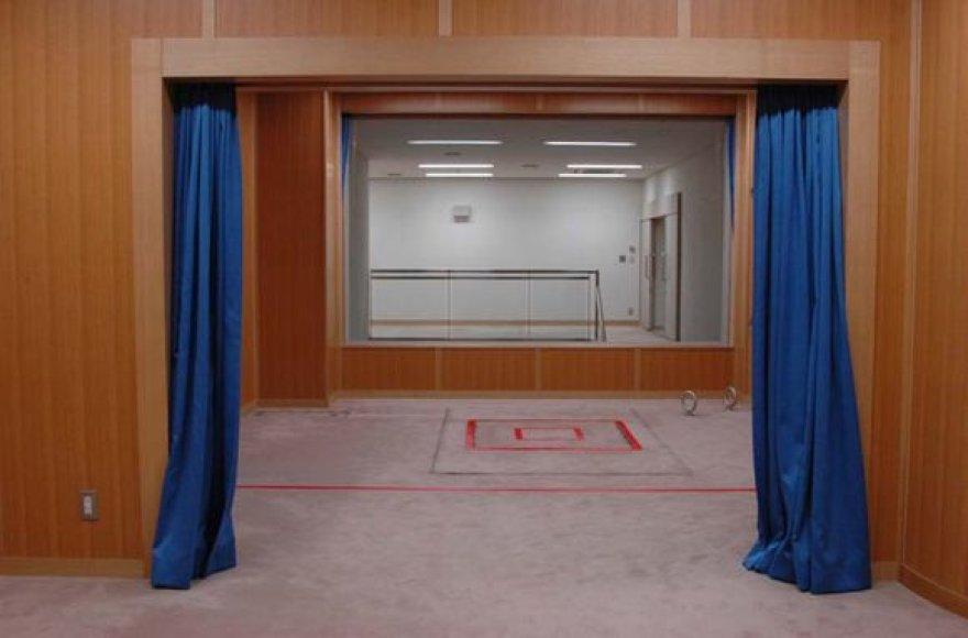 Egzekucijų kambarys Tokijo kalėjime.