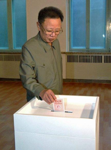 Šiaurės Korėjos lyderis Kim Jong-il
