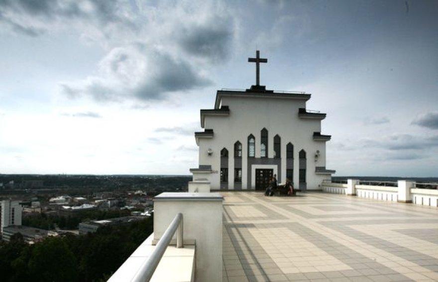 Kauno Kristaus Prisikėlimo bažnyčios stogas.