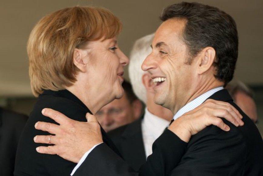 Angela Merkel ir Nicolas Sarkozy