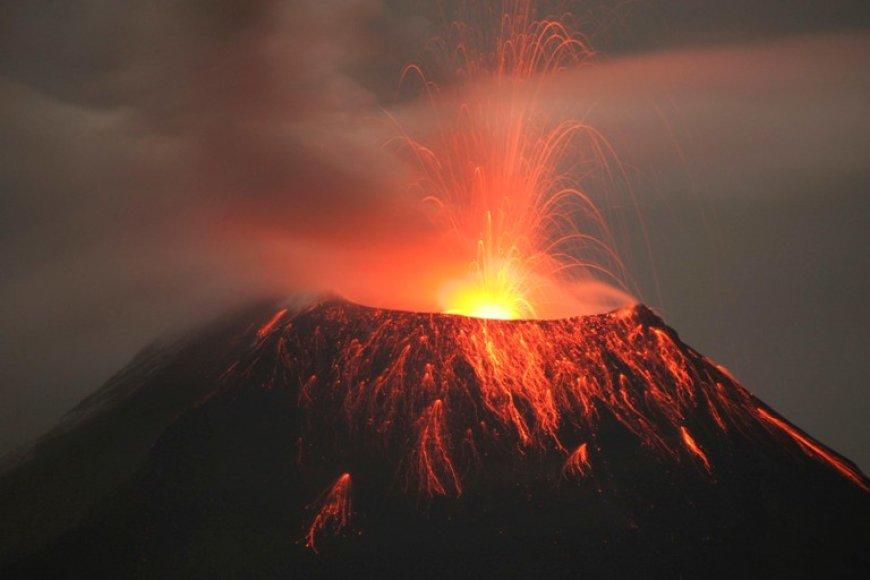 Tungurahua ugnikalnis Ekvadore
