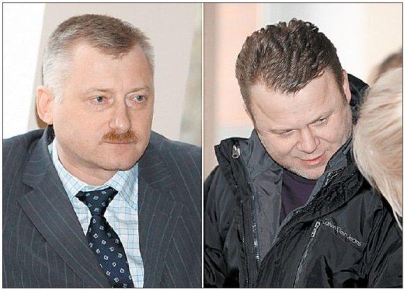 Atleistas iš tarnybos A.Blaževičius (kairėje) sugebėjo išsireikalauti 20 tūkst. litų kompensaciją už priverstinę pravaikštą ir išėjo į pensiją. Gal jo pavyzdžiu paseks ir E.Duoba.