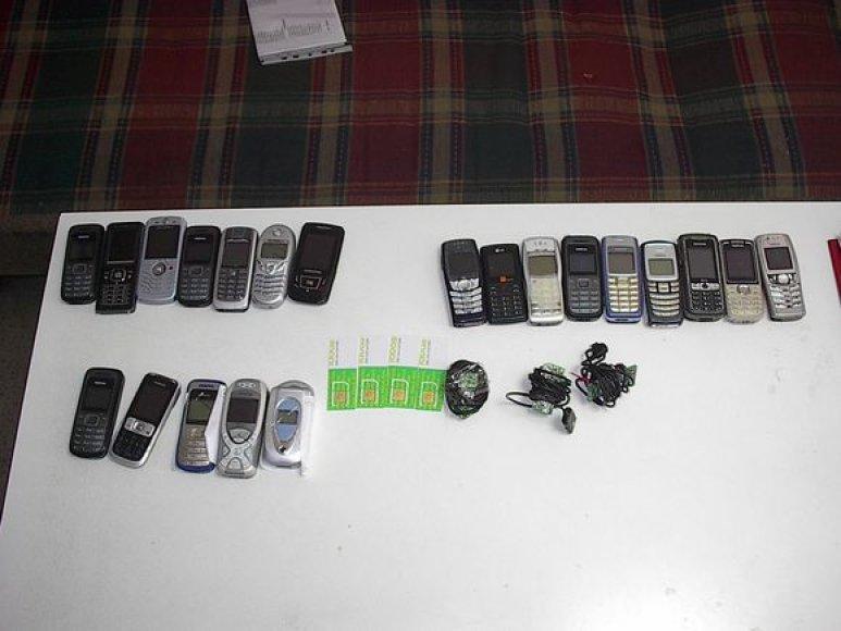 Pravieniškių 3-ieji pataisos namuose sulaikyti daiktai.