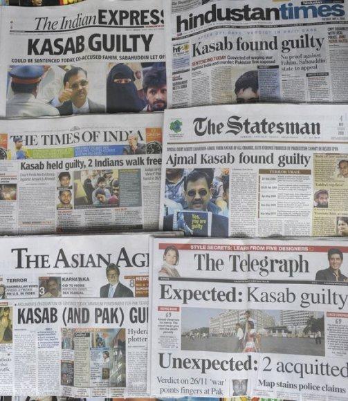 Pirmadienį 22 metų Pakistano pilietis Mohammedas Ajmalas Amiras Kasabas buvo pripažintas kaltu.