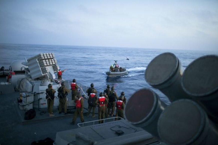 Izraelis apšaudė taikius laivus.