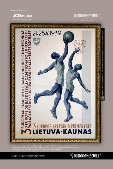 Plakatas 1939 m. Europos krepšinio čempionatui