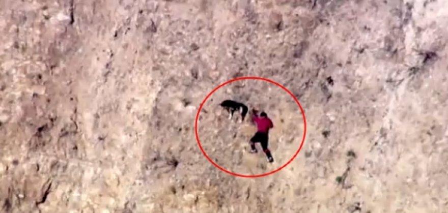 Ivanas ir jo šuo ant uolos