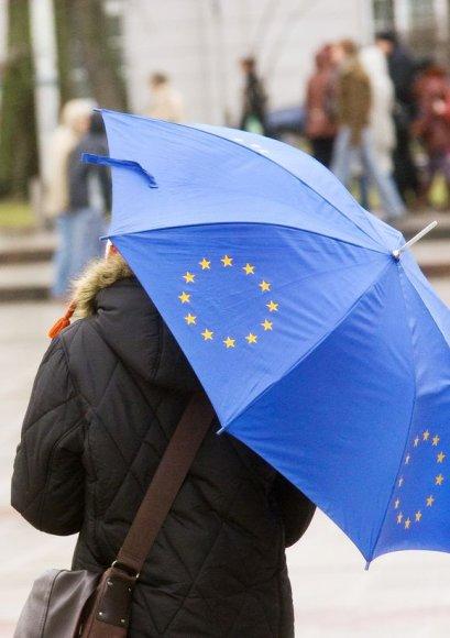 Lietuviai optimistiškai žvelgia į narystę Europos Sąjungoje.
