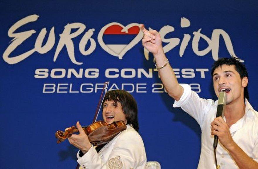 Eurovizijos dainų konkurso 2008 nugalėtojas rusas Dima Bilanas.