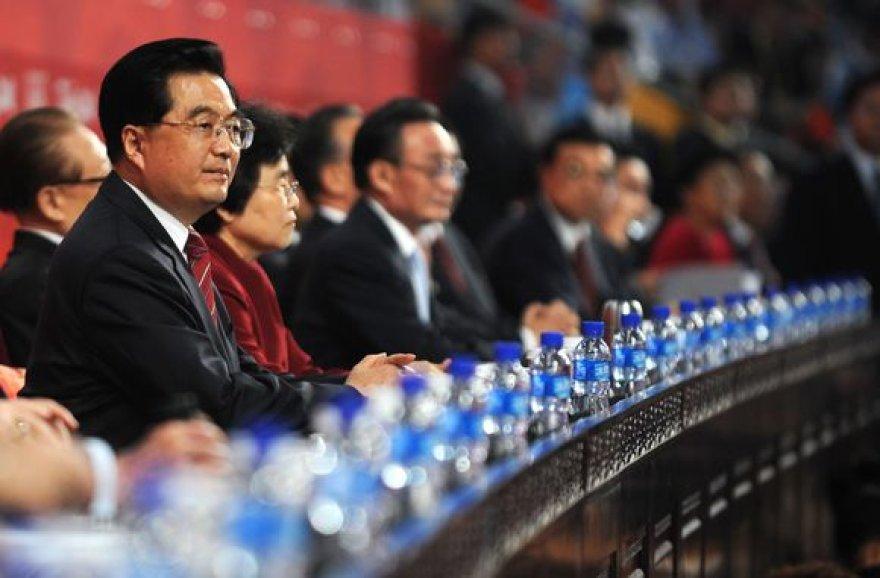 Kinijos prezidentas Hu Jintao.