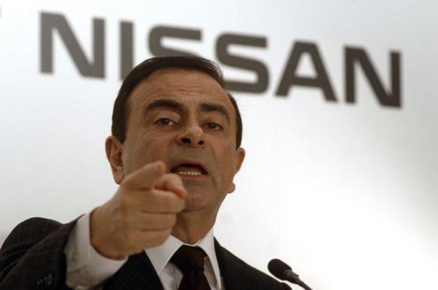 """""""Renault-Nissan"""" aljanso vadovas Karlosas Ghosnas"""