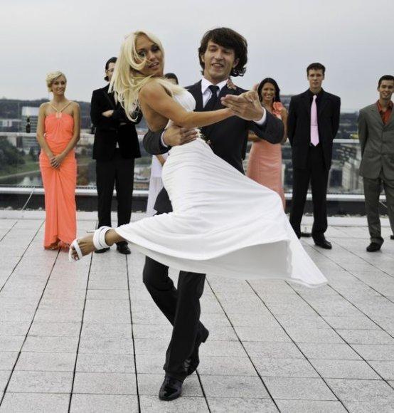 Oksana Pikul su savo šokių partneriu