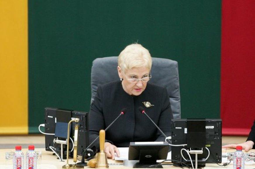 Seimo pirmininkė Irena Degutienė