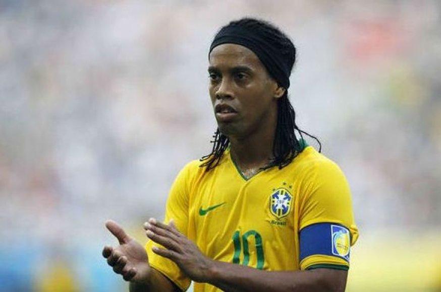 Brazilijos rinktinės kapitonas Ronaldinho