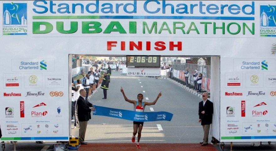 Haile Gebreselassie finišas Dobajuje