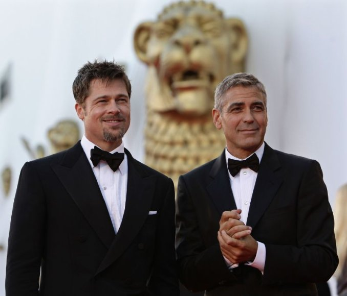 Venecijos kino festivalio atidaryme George'as Clooney and Bradas Pittas