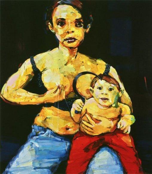 """V. Marcinkevičiaus paveikslas """"XXI amžiaus Madona"""""""