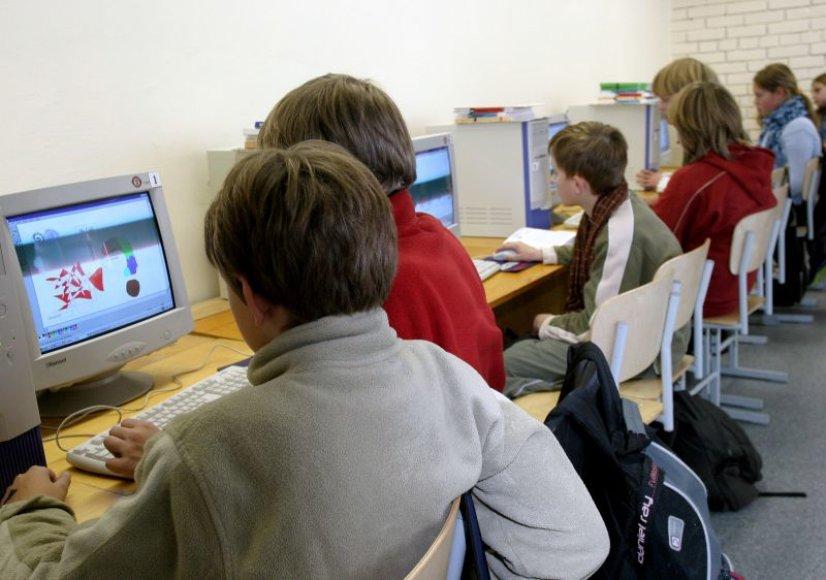 Vaikai prie kompiuterių