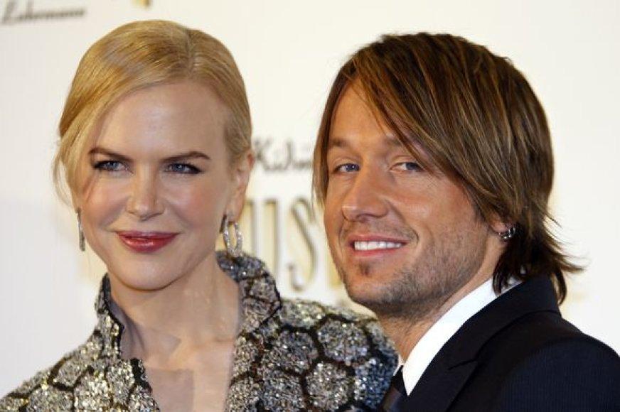 Nicole Kidman su vyru Keithu Urbanu