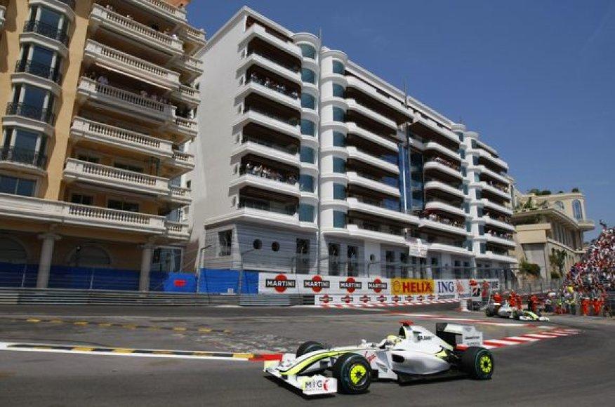 Monako GP lenktynių akimirka