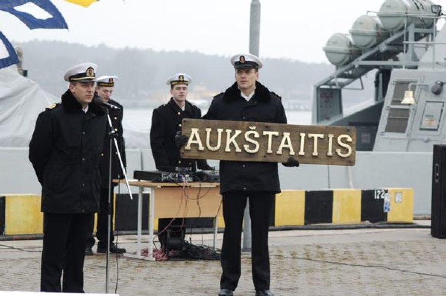 Patrulinio laivo P14 sutikimas Klaipėdoje (archyvo nuotrauka)