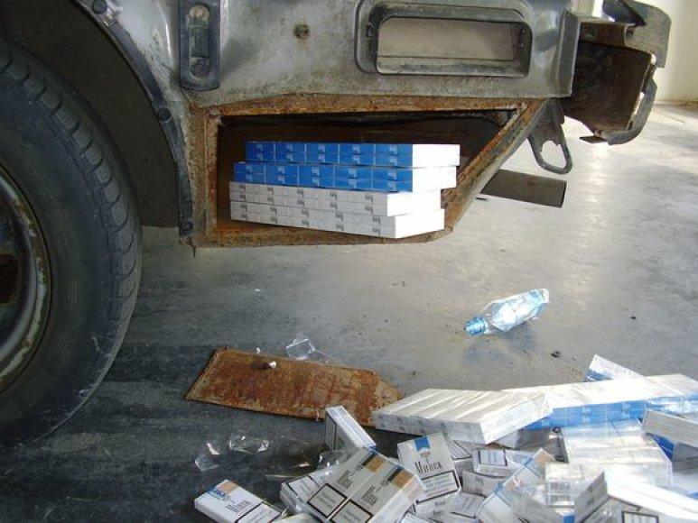 Sulaikytos kontrabandinės cigaretės