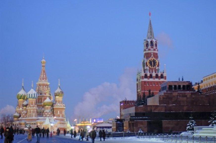 Raudonoji aikštė Rusijoje.