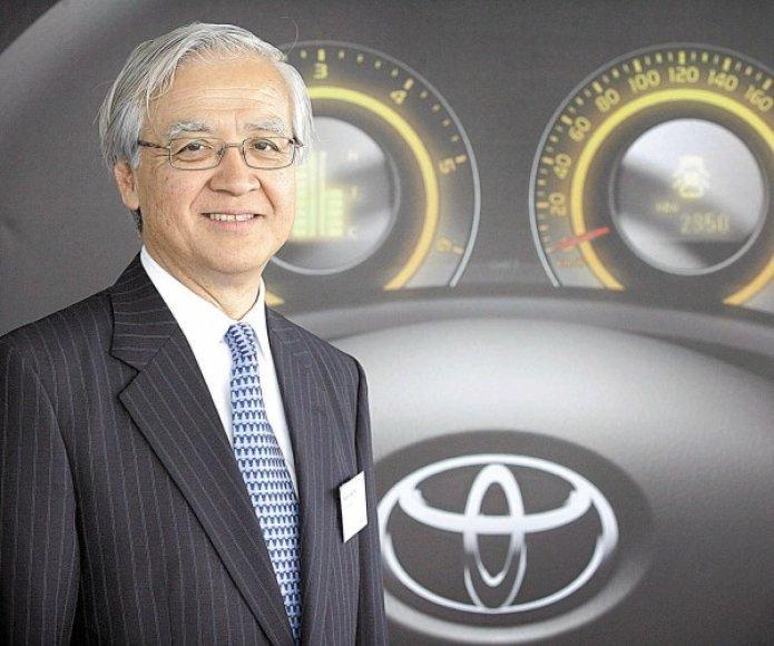 """""""Toyota"""" Europos padalinio vadovas 58 metų Tadashi Arashima"""