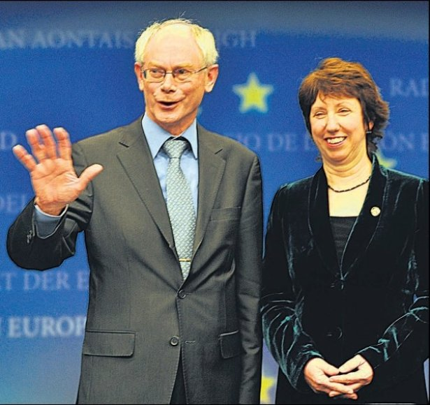 Nesitikima, kad H.van Rompuy ir C.Ashton taps stipriais Europos lyderiais.