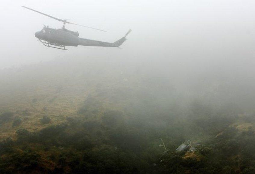 Naujojoje Zelandijoje sudužo sraigtasparnis, skridęs į veteranų minėjimą.