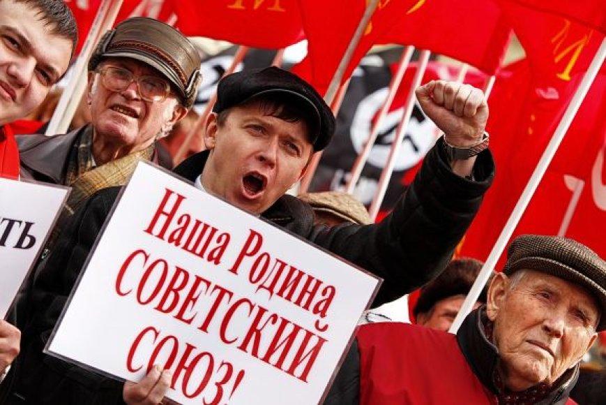 Komunistų protesto demonstracija Maskvoje