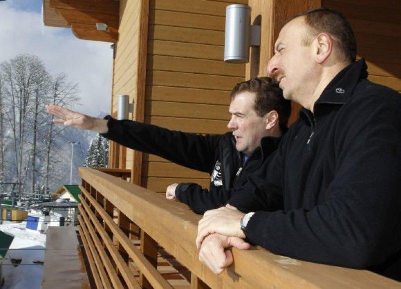 Rusijos, Armėnijos ir Azerbaidžano prezidentai Sočyje
