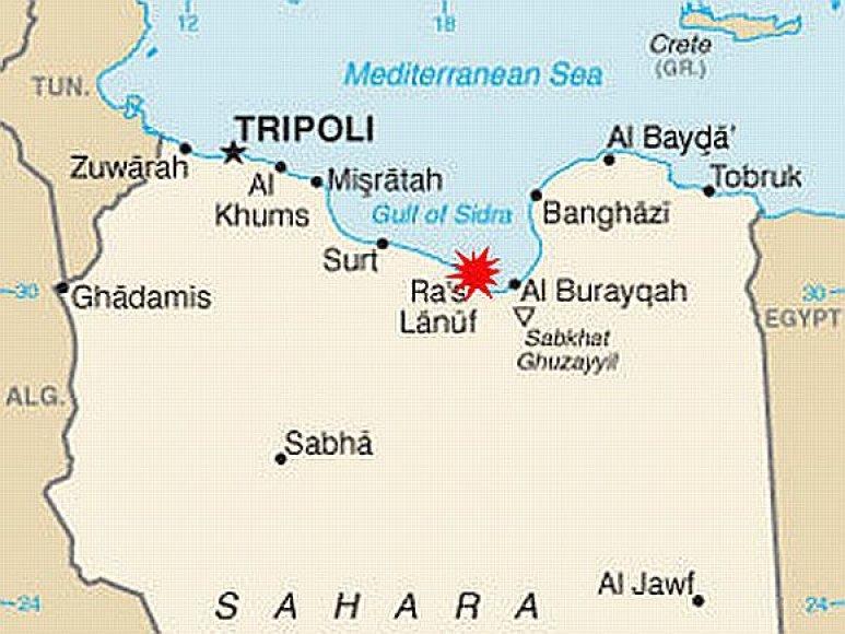 Libijos žemėlapis