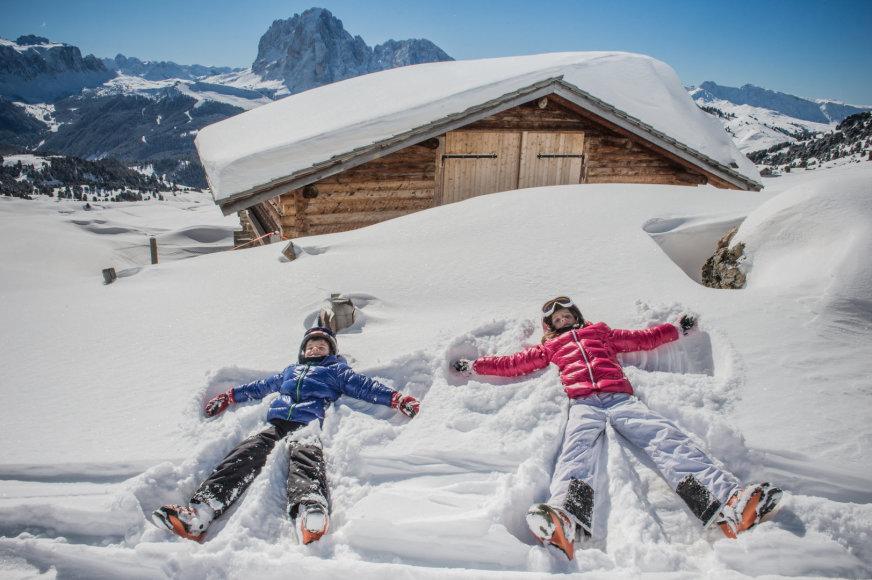 Slidinėjimas Italijos regione Dolomiti Superski