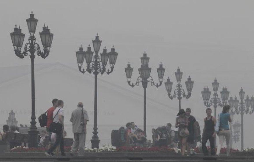 Rytinis smogas Maskvoje