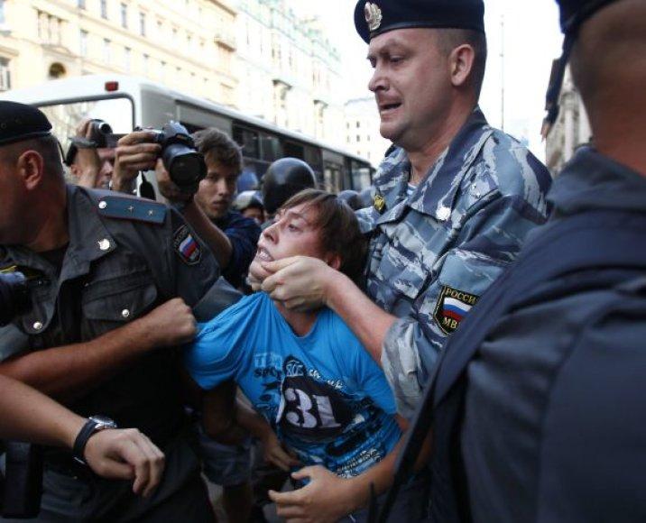 Maskvos policija išvaikė opozicijos atstovus