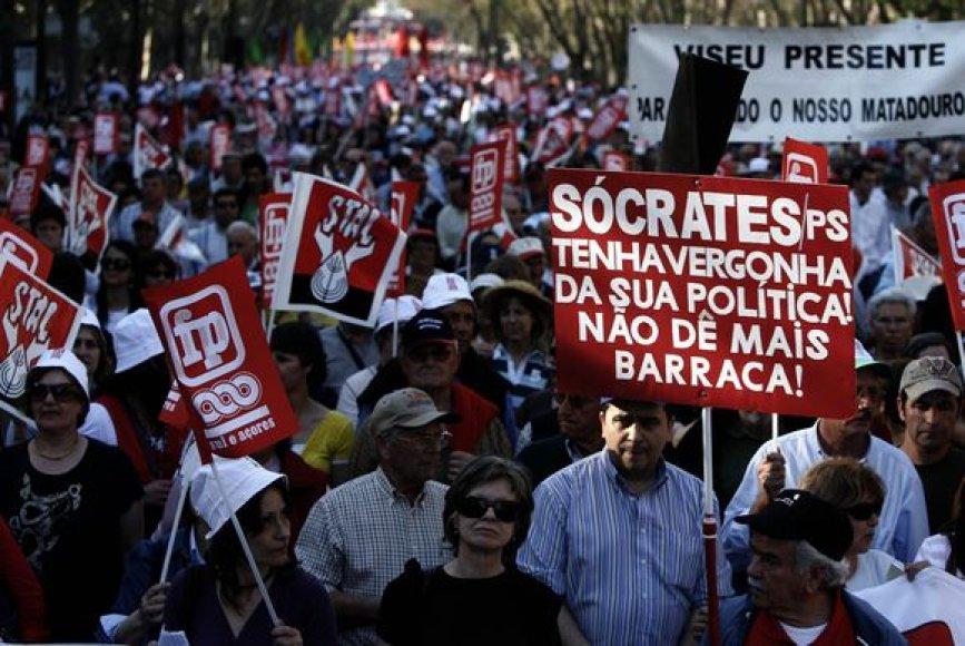 Demontracija Portugalijos sostinėje