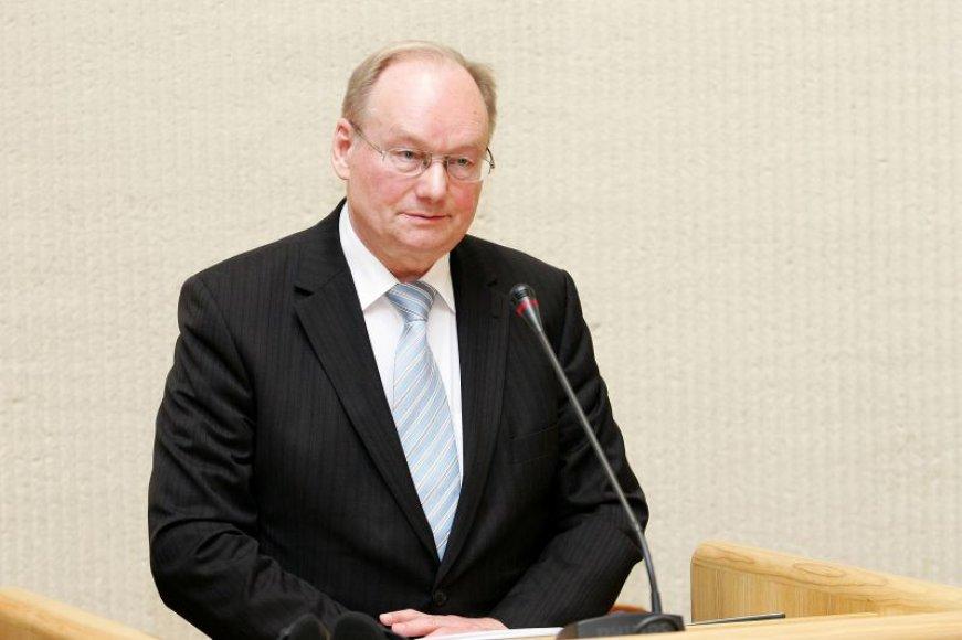 Seimo pirmininkas Česlovas Juršėnas.