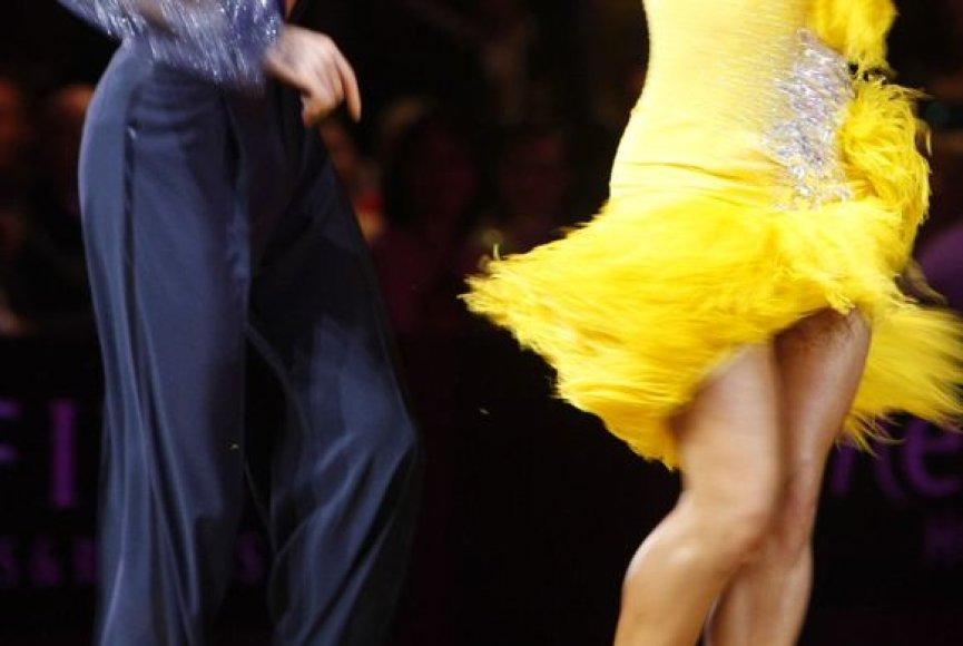 Dešimties sportinių šokių čempionatas vyko Kaune