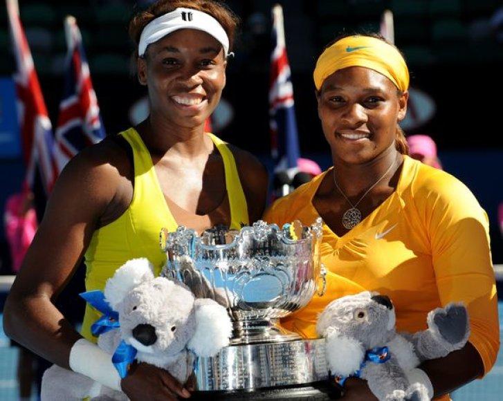 Williams ketvirtą kartą laimėjo Australijos dvejetų turnyrą